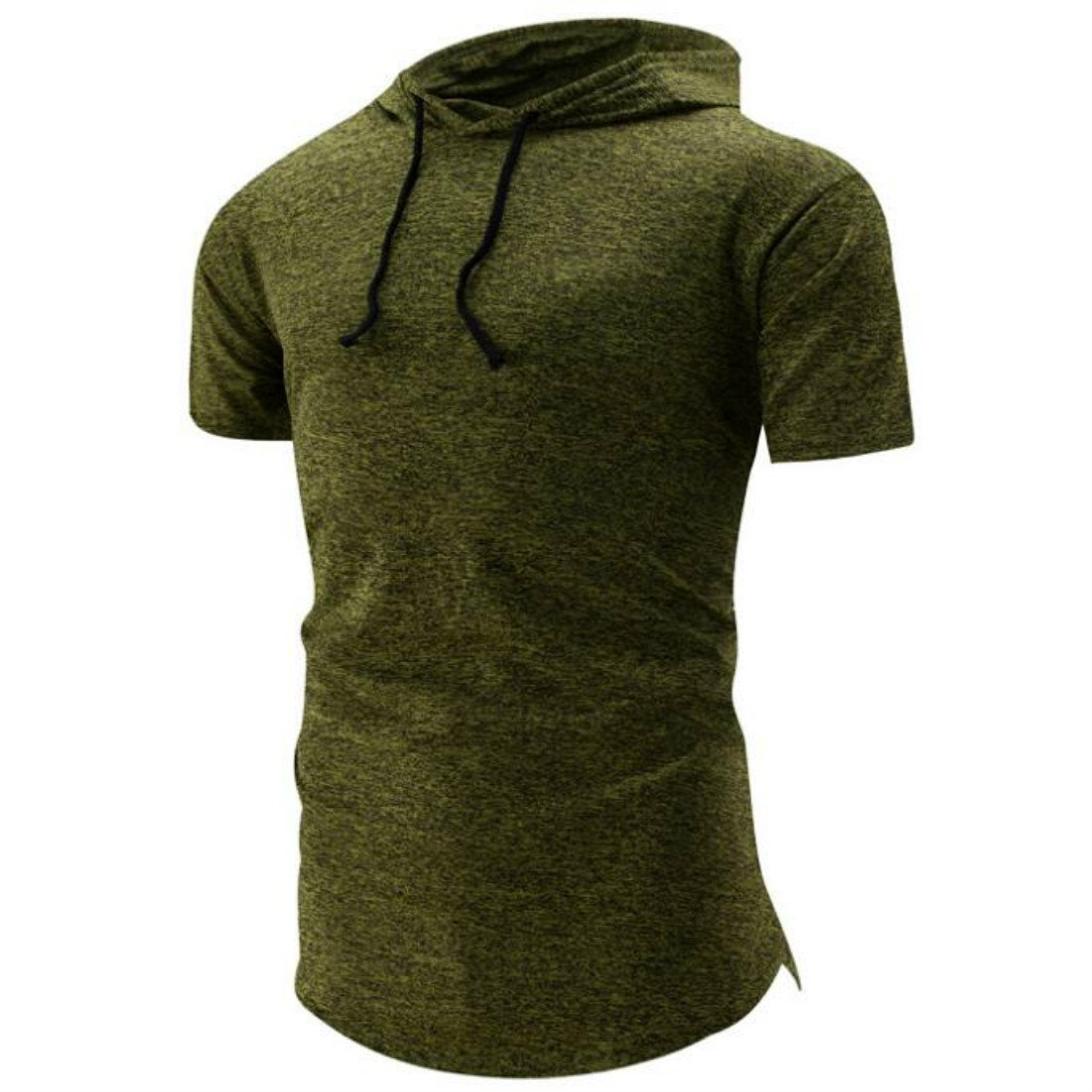 Colygamala Men's Summer Casual Hooded Shirt Slim Short Sleeve Sweatshirts DM2018051404-G-XS