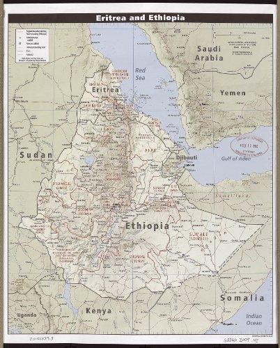 "Map Poster - Eritrea and Ethiopia. - 24""x19.5"""