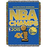 "NBA Golden State Warriors 2015 Champion Tapestry Throw Blanket, Blue, 46"" x 60"""