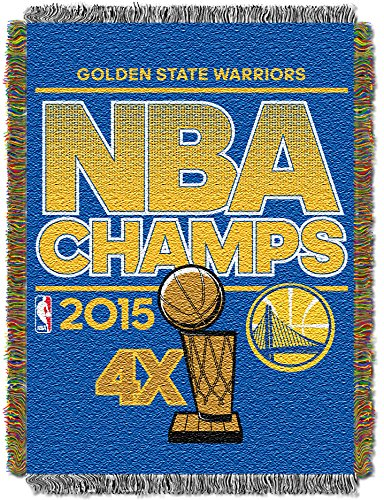 NBA Golden State Warriors 2015 Champion Tapestry Throwブランケット、ブルー、46