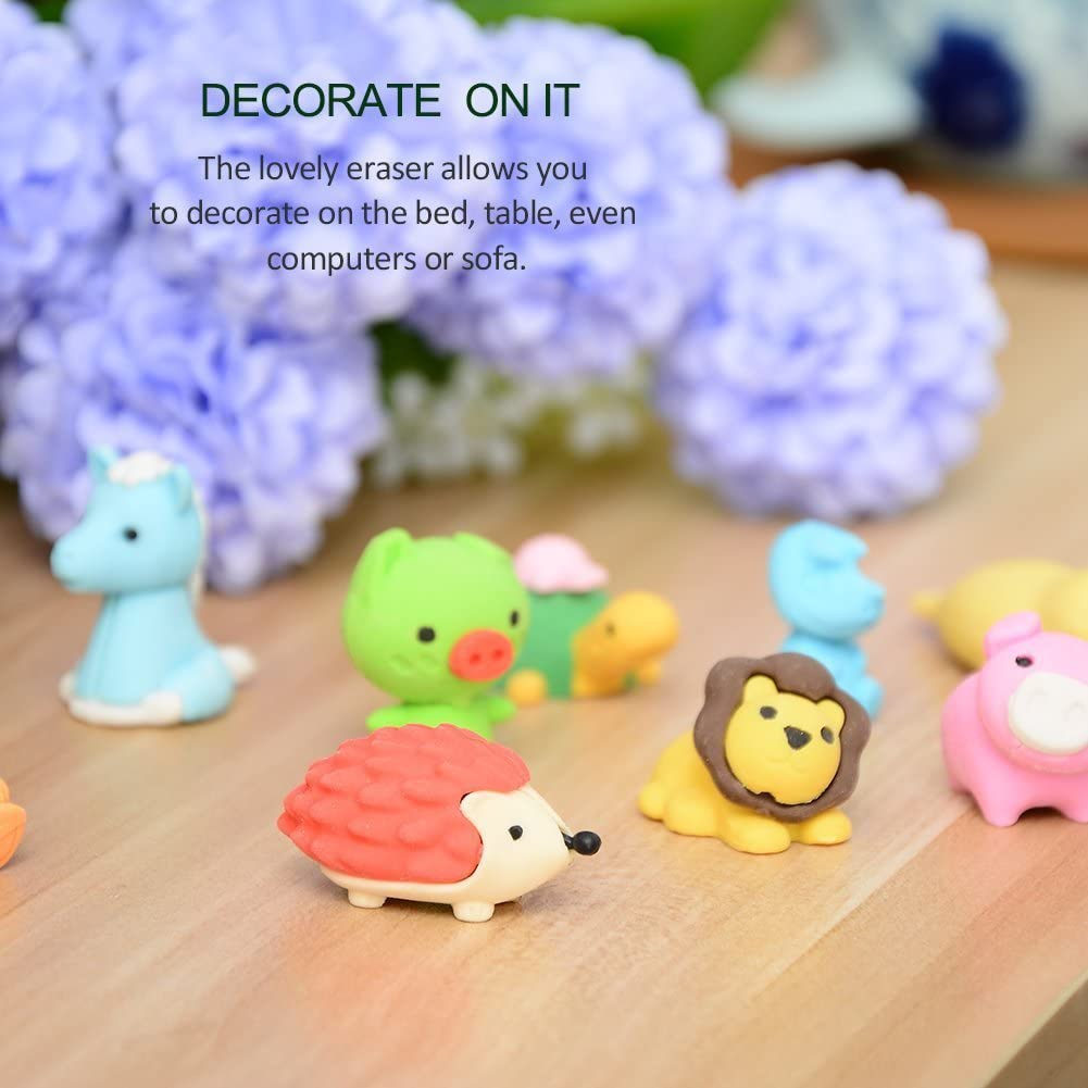 GoaPly 40 PCS Mini Erasers Cute Erasers Set Japanese Puzzle Simulation Car Animal Vegetables Eraser Novelty Erasers Toys for Boys and Girls Eraster Party Favors Gift Educational Toys.