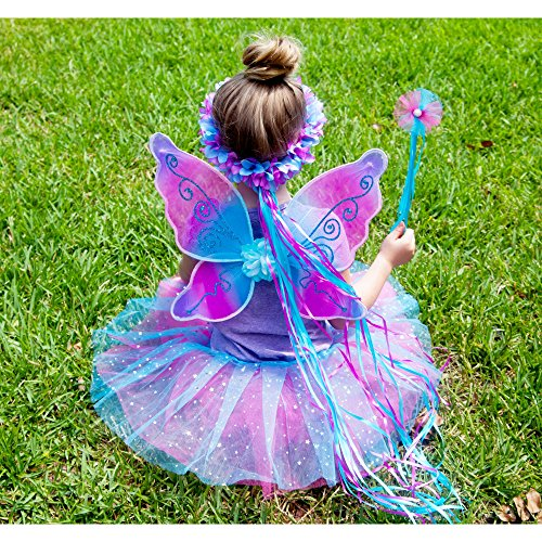 5 Piece Sparkling Magic Hot Pink and Blue Fairy Princess Set