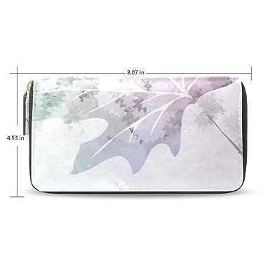 dadb00226713 Sly Glass Maple Leaf Women's New Purse Zipper Purse Clutch Bag Card ...
