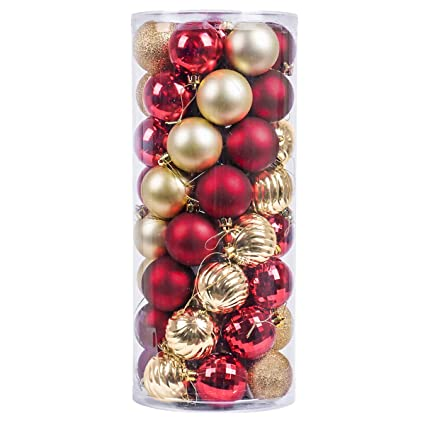 vm valery madelyn 50ct shatterproof christmas balls ornaments 236inch6cm christmas ball tree