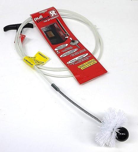 Deshollinador-Puli Pellet Cepillo deshollinador 5 metros para tubos de pelllet con 2 erizos,