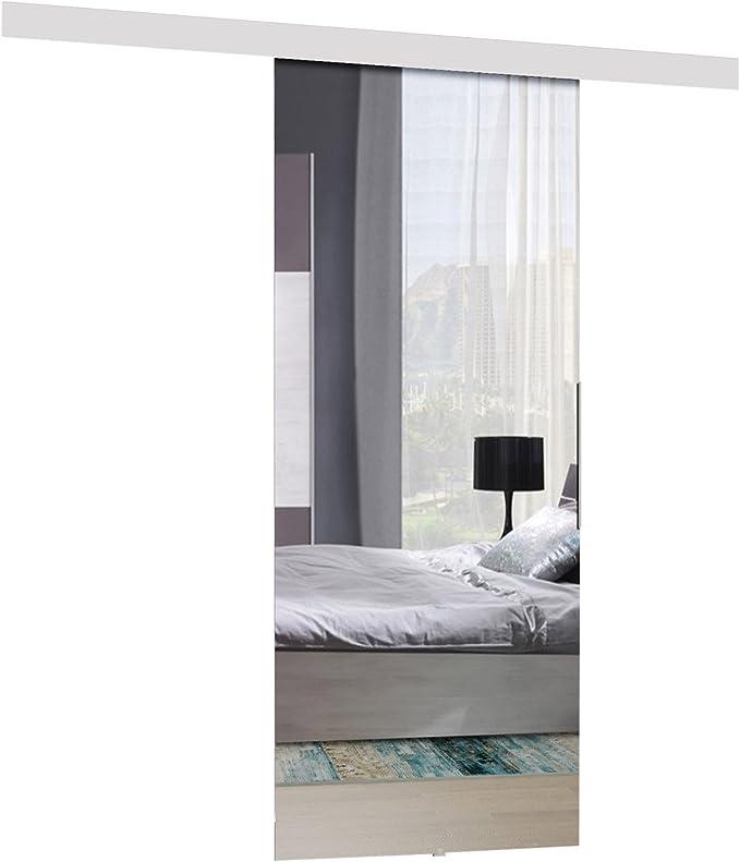 mirjan24 Puerta Corredera Sistema Mirror Set Completo para puertas correderas con guía de suelo Distancia Guía divisores puertas interiores: Amazon.es: Juguetes y juegos