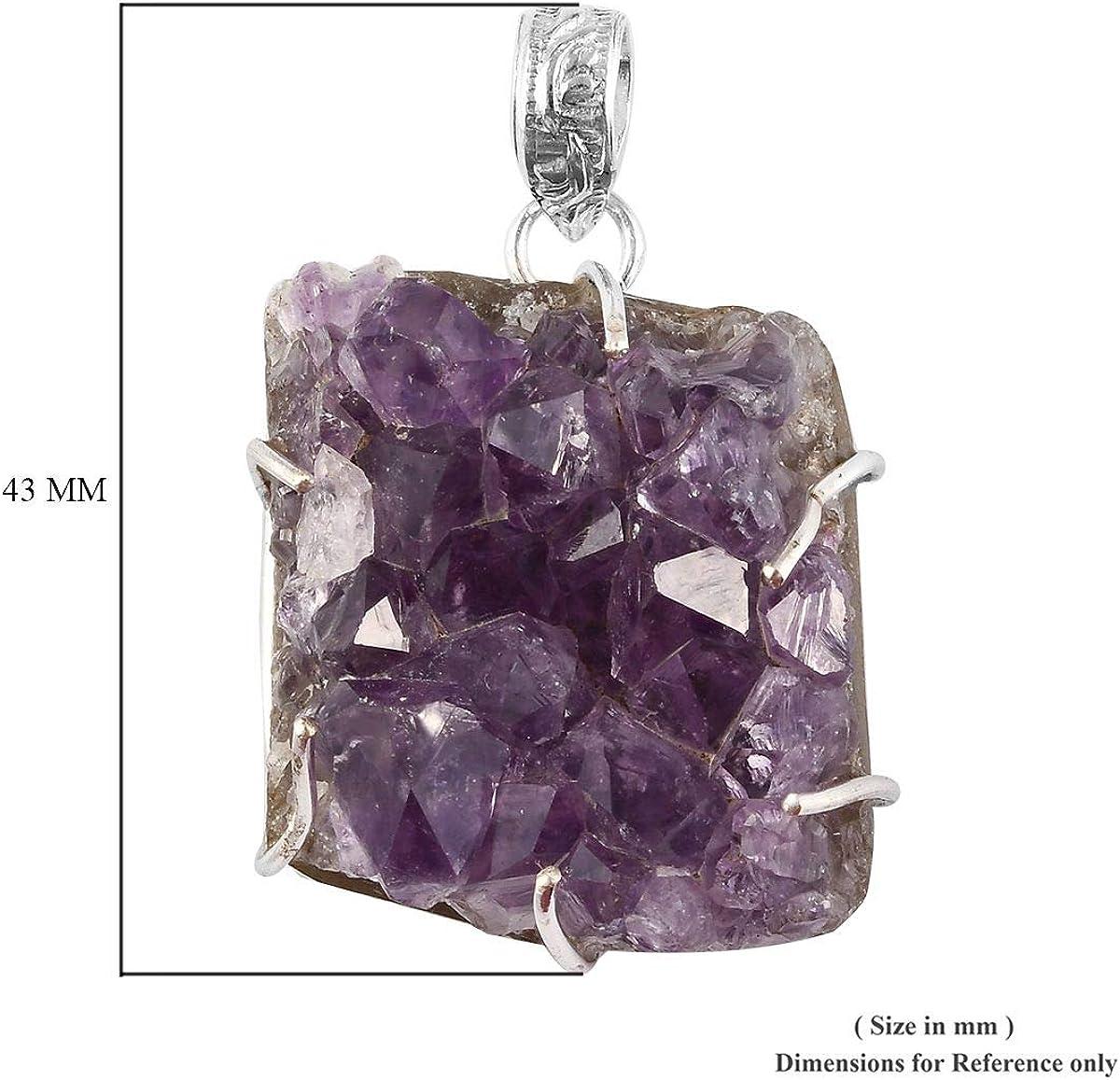 purple gemstone necklace handmade silver Amethyst artisan Amethyst necklace sterling Crystal statement Sterling Amethyst necklace