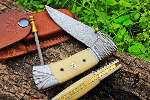 DKC Knives (2 7/18) Sale DKC-159 Crocodile Damascus 4.5' Folded 8