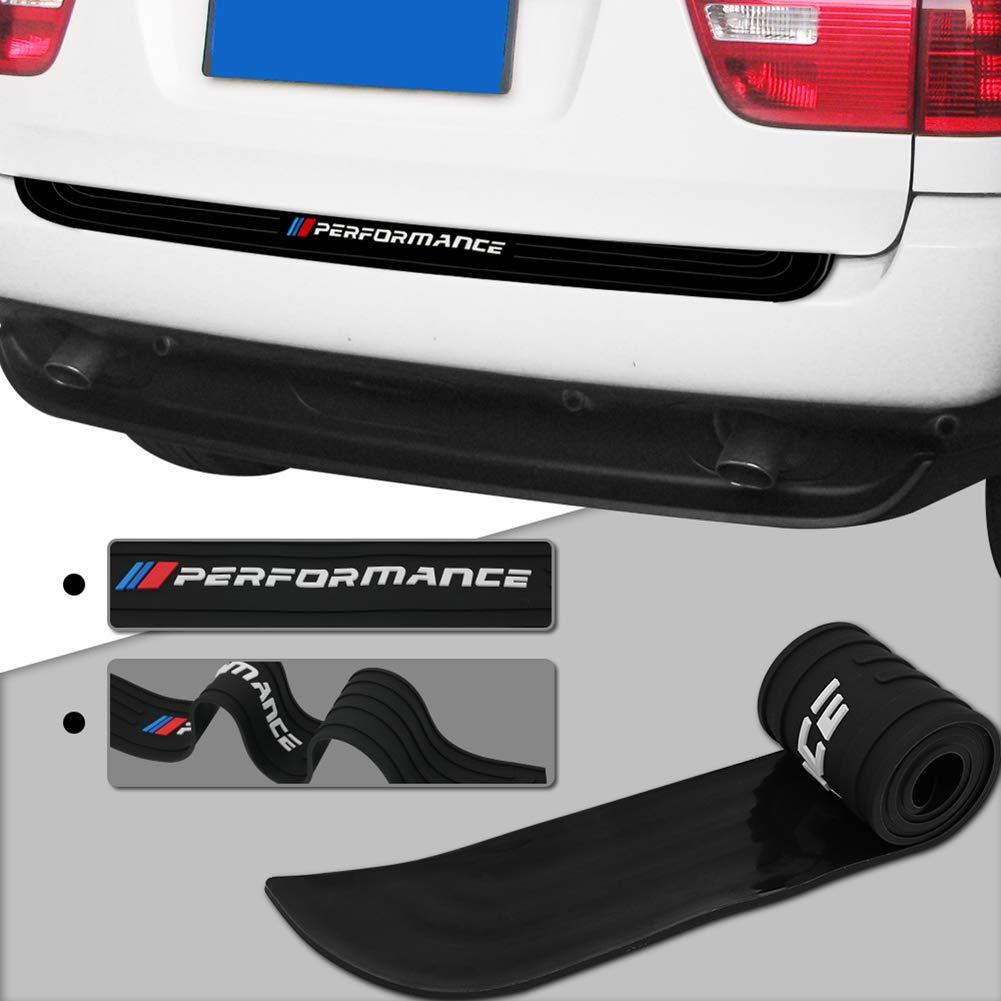 Meng Anna Car Rear Bumper Protector Universal Black Rubber Scratch-Resistant Trunk Door Entry Guards Accessory 105cm//41inch