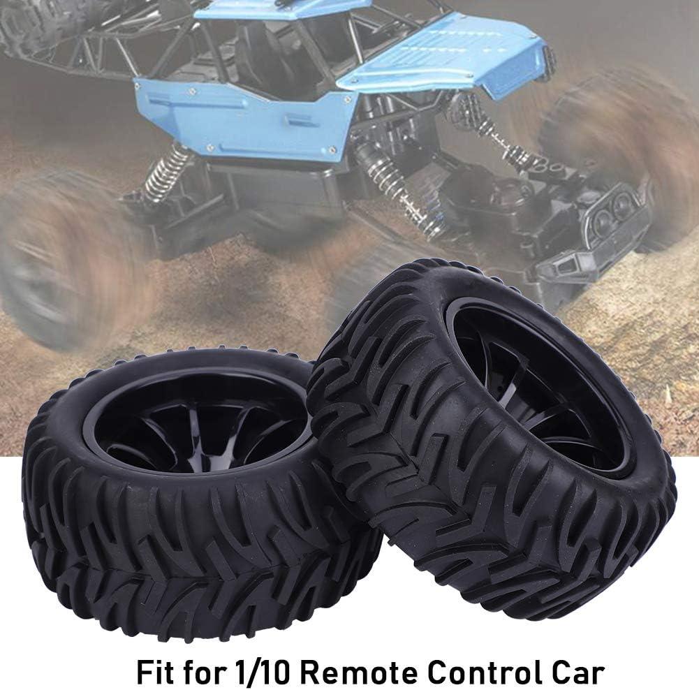 Type fl/èche Noire t/él/écommande Universelle pneus de Roue sont con/çus pour la Voiture 1//10 RC Noir Tbest Pneu de Voiture RC 4ps 115mm