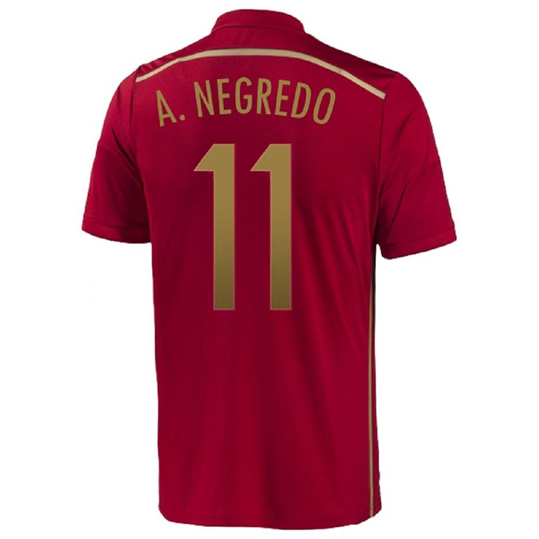 Adidas A. Negredo #11 Spain Home Jersey World Cup 2014/サッカーユニフォーム スペイン ホーム用 ワールドカップ2014 背番号11 A.ネグレド XL  B00KJ3P1S4