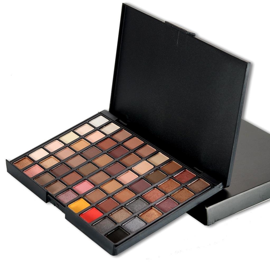 Cosmetic Eyeshadow ,Beikoard, 54 Colors Cosmetic Powder Eyeshadow Palette Makeup Professional Fashion Natural Shimmer Matt Set (A)
