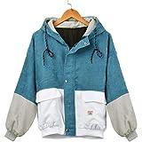 056d3329ac KIMODO Women Long Sleeve Corduroy Patchwork Oversize Jacket Windbreaker Coat …