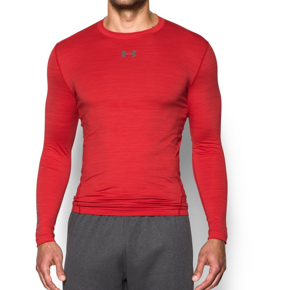 Under Armour Men's ColdGear Armour Twist Compression Crew, Red/Graphite, X-Large by Under Armour (Image #1)