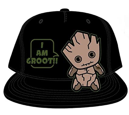 26768556c30b7 Guardian of The Galaxy - Groot - Kawai Black Baseball Cap Hat   Amazon.co.uk  Clothing