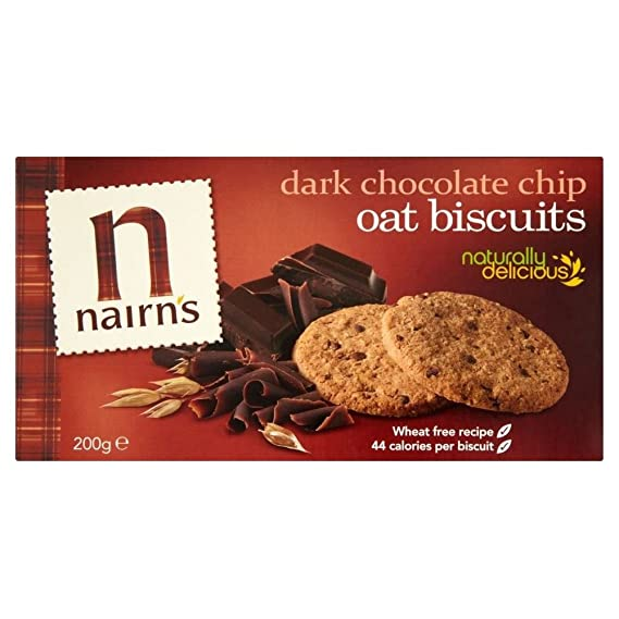 Nairns Galletas De Chocolate Chip Oscuro De Avena (200g) (Paquete de ...