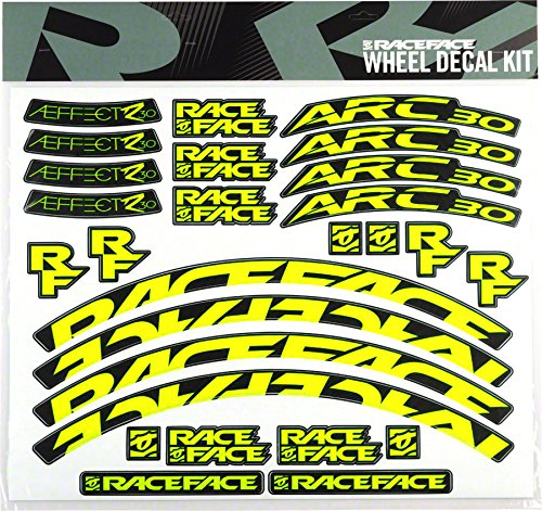 RaceFace Decal Kit for Arc 30 Rims and Aeffect R 30 Wheels, Yellow