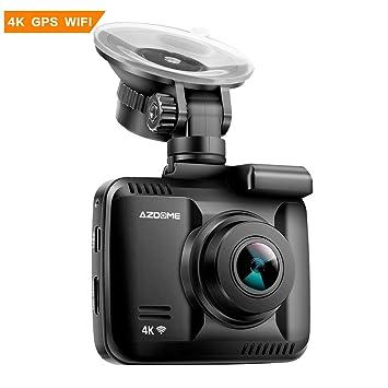 Cámara de Coche 4K 2160P con WIFI GPS Dashcam Grabadora Ultra HD Dash Cam de Gran
