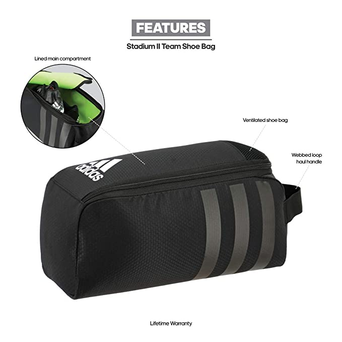 25305acc33c9 Amazon.com   adidas Stadium II Team Shoe Bag