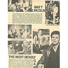 Vince Edwards George Maharis original 1pg 8x10 clipping magazine photo #S9677