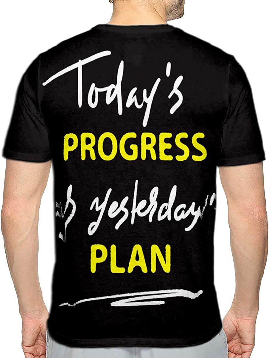 3D Printed T-Shirts Todays Progress was Yesterdays Plan Short Sleeve Tops Tees