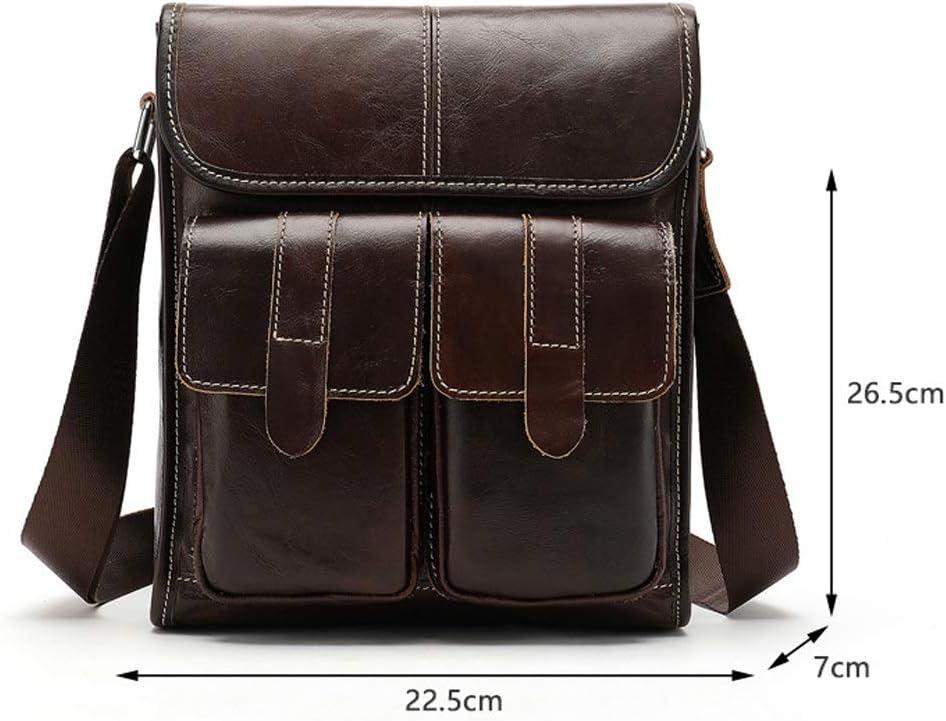 YiCanGg Briefcase Color : Dark Brown Brown//Black//Dark Brown Multi-Functional Large Capacity Business Handbag 22.5x7x26.5cm Canvas Leather Vertical Casual Man Crossbody Bag