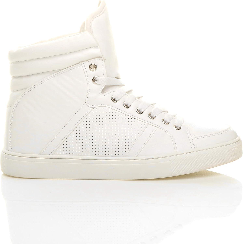 Homme Hi Top Baskets à Lacets Bottes Parti Baskets Casual Fashion Chaussures Taille UK