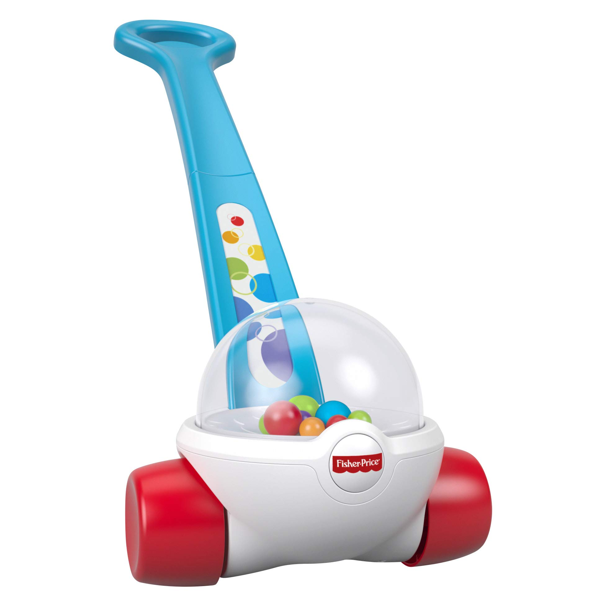 Fisher-Price Corn Popper, Toddler Push Along Toy with Ball-popping Sounds and Action, Toy for 1 Year Old
