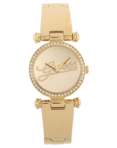 7bf869b6e5c7 Guess W0287L2 - Reloj de mujer chapado en oro decorado con cristales ...