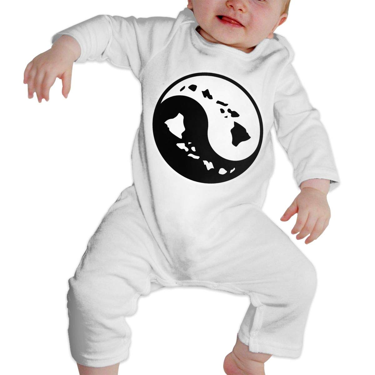 Yin Yang Hawaiian Island Map-1 Unisex Baby Sleep and Play Romper Jumpsuit