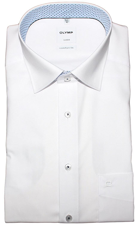 Olymp Camisa Formal - Básico - con Botones - Manga Corta - Para Hombre