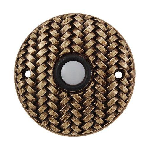 (Vicenza Designs D4010 Cestino Round Style Doorbell, Antique Brass)