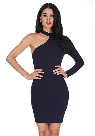 AX Paris Women s One Sleeve Choker Bodycon Dress at Amazon Women s ... d9937a3e5