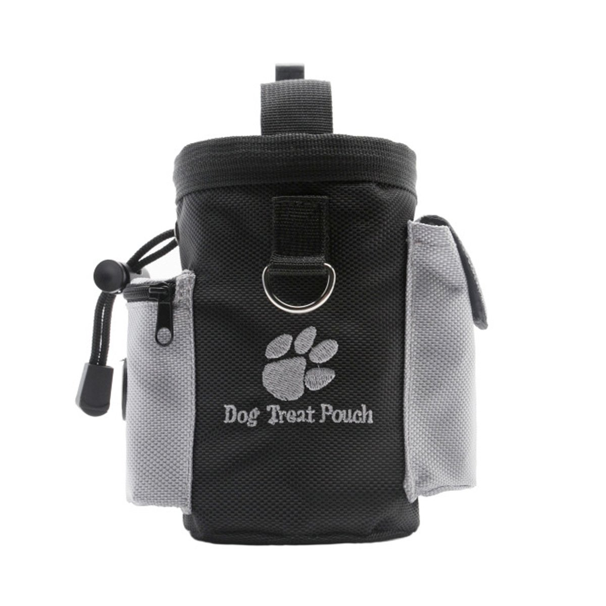 Lifeunion Dog Treat Snack Reward Training Pouch Bag Container, Carries Food and Toys,Puppy Poop Bag Dispenser,Waist Clip and Drawstring