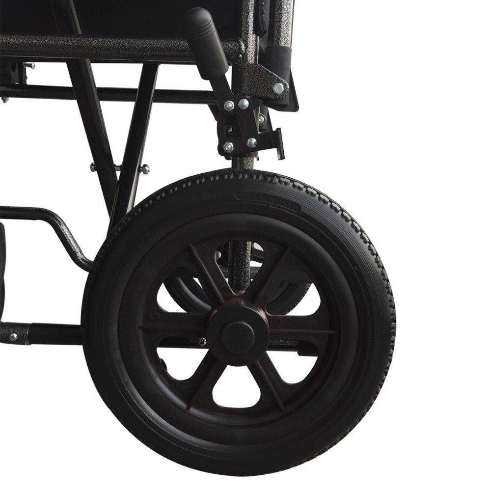 Mobiclinic Silla de Ruedas de Acero S230 | Plegable | De Paseo | Manual | para Mayores | para discapacitados | con reposapiés y reposabrazos extraíbles ...