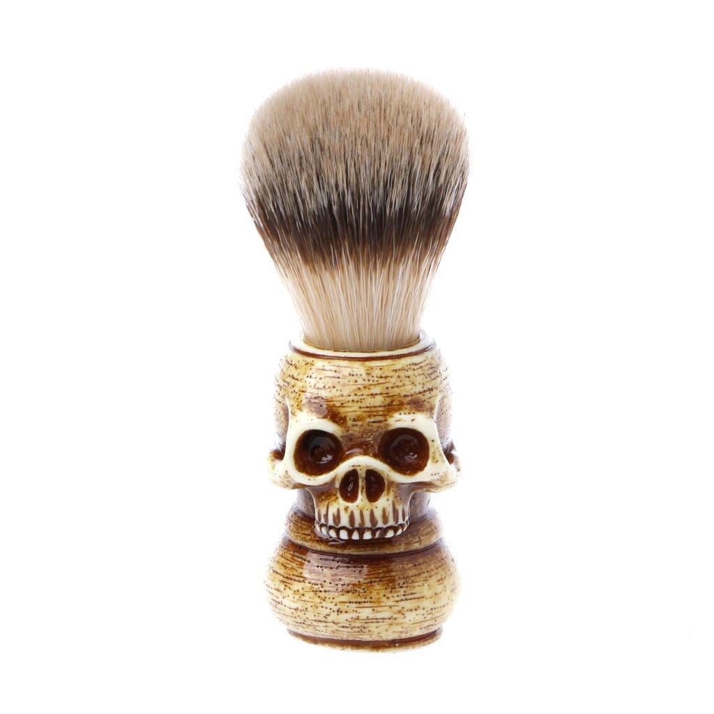 CUIGU Shaving Brush Badger Bristle Hair Skull Hand Made Wooden Handle -Men's Gift