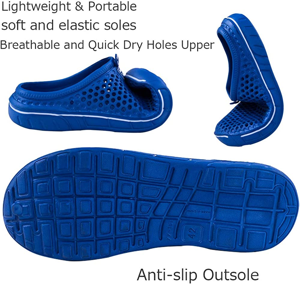 Unitysow Zuecos Hombre Sandalias Piscina Sanitarios Enfermera Zapatillas de Playa de Verano Zapatos de Jard/ín Zapatillas de Estar por casa Pantuflas Slippers