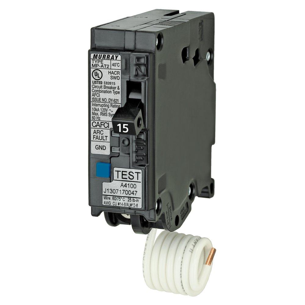 Murray MPA115AFCP 15-Amp Single Pole 120-volt Plug-On Combination AFCI  Breaker - - Amazon.com