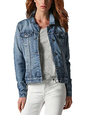 aef38da9e19a Image Unavailable. Image not available for. Color  Buffalo David Bitton Womens  Knit Stretch Denim Jean Jacket ...