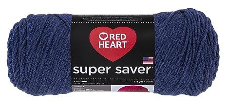Abrigos de Lana Corazón Rojo Super Saver Yarn-Denim