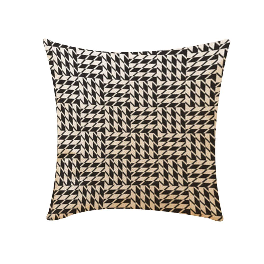 Haihuic Taie d'oreiller à Jet carré Style Simple Moderne Couvertures décoratives pour la Maison Housse de Coussin pour canapé, lit et canapé 45 x 45 cm / 18 x 18 Pouces