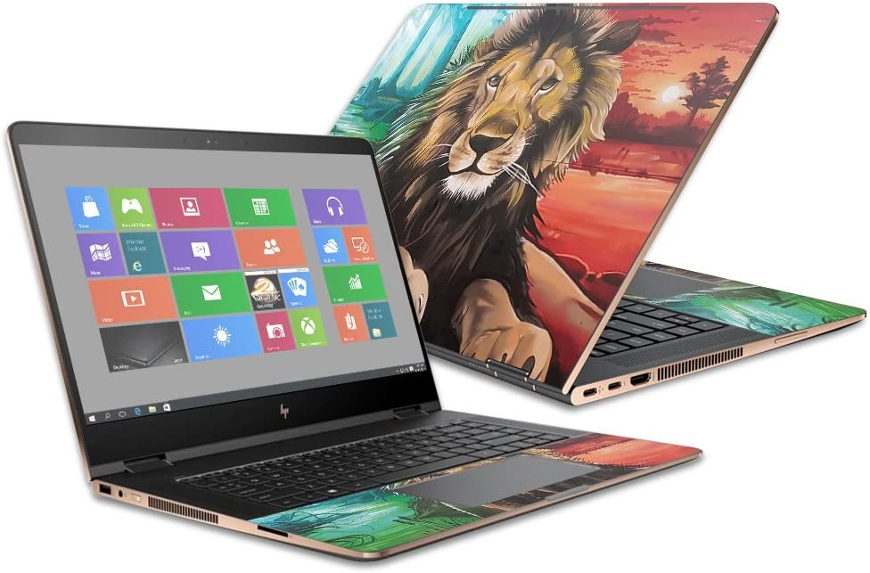 "MightySkins Skin Compatible with HP Spectre x360 Convertible 15.6"" (2017) - Split Lion 