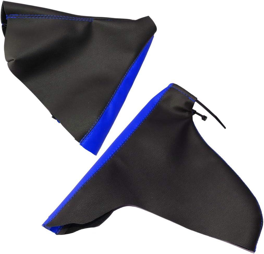 Aerzetix; Dunkelgrau Schaltsack und Handbremse aus Kunstleder