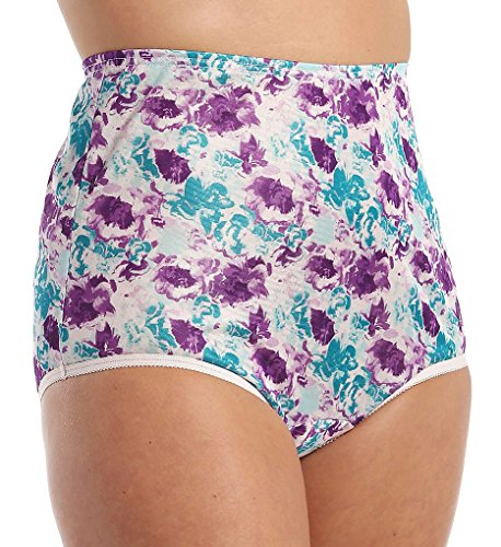 Vanity Fair Women's Perfectly Yours Ravissant Tailored Nylon Brief Panty - Size X-Large / 8 - Sweet Summer Print
