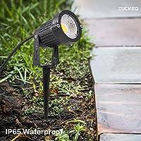 zuckeo luces de jardín LED 5 W COB foco para exteriores 12 V 24 V ...