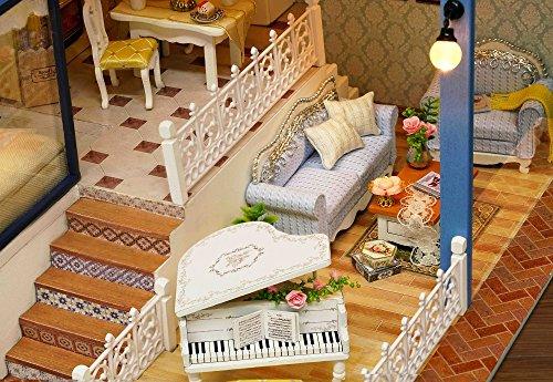 Kit per casa delle bambole fai da te in miniatura in legno fatta