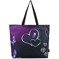 ICOLOR Large Reusable Grocery Bag Totes Eco Friendly Market Travel Sports School Beach Shoppers Shoulder Bag Reusable Portable Storage Handle Bags Convenient Shopping Tote Bags