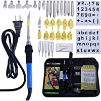 Pyrography Pen Wood Burning Kit Soldering Iron Electric 60W for Adults,50pcs Temperature Adjustable with Woodburning Tips Tool/Embossing/Carving/Soldering Tips,Professional Creative Woodburner Set