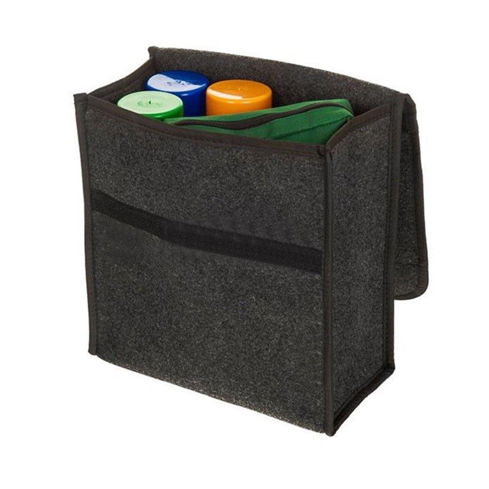 uyhghjhb Bolsa de Almacenamiento de Fieltro del Maletero del Coche Bolsa de Almacenamiento Plegable de la Caja del Tenedor Gris Oscuro 35/×30/×20cm