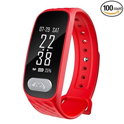 BOZLUN Fitness Tracker Men Women with ECG Blood Pressure Heart Rate Monitor Pedometer Calorie Distance Sleep Tracking Waterproof for Apple and Android